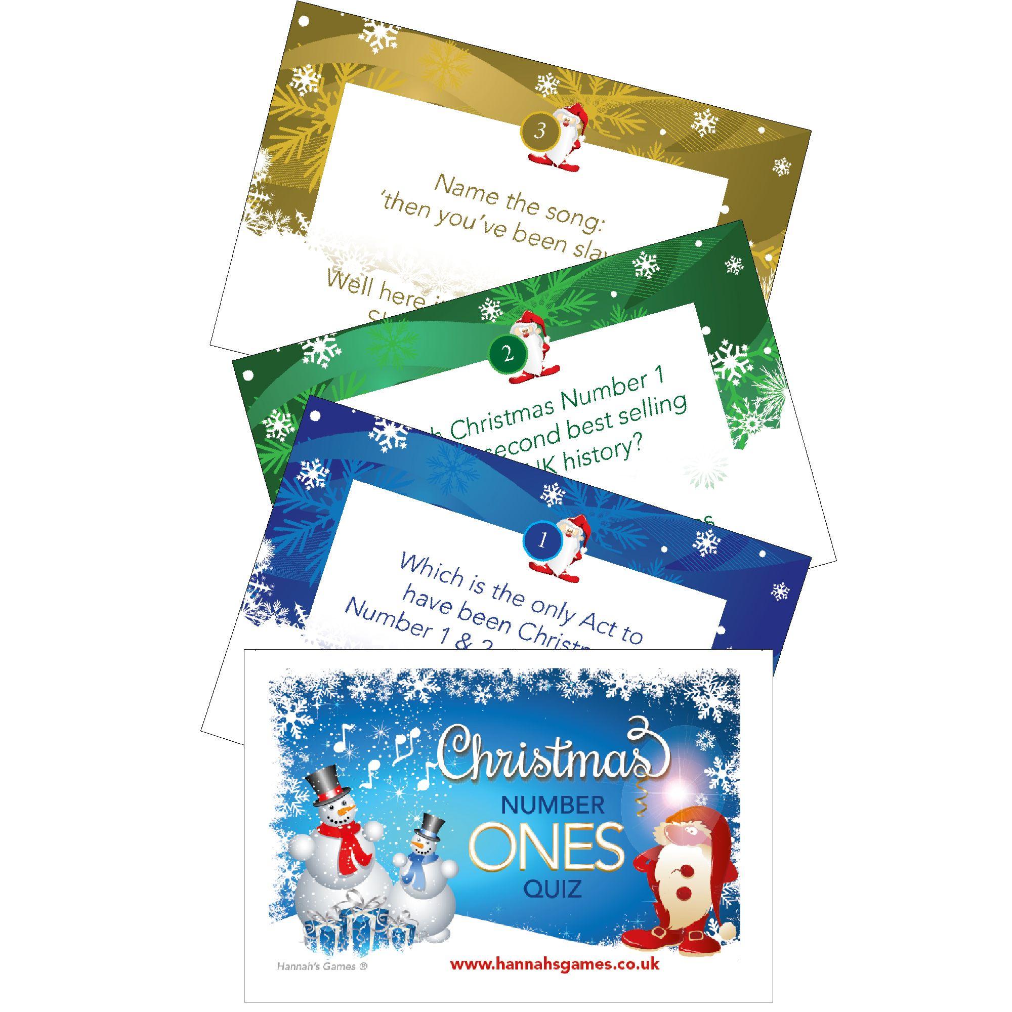 Xmas Number Ones Christmas Music Quiz - Xmas Song Trivia Games Cards | Christmas music quiz ...