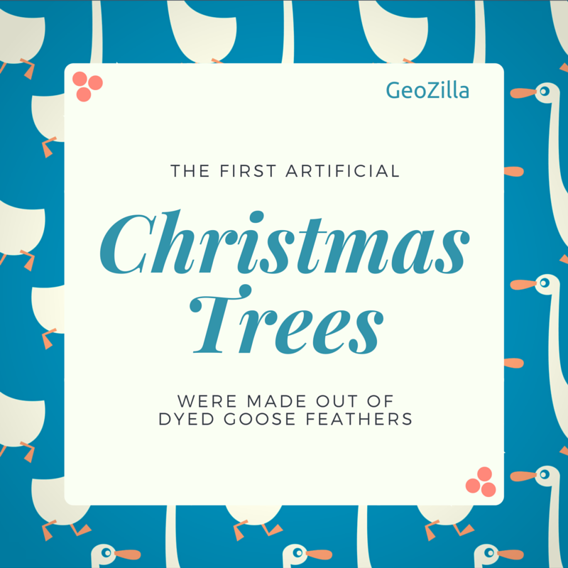 Did you know that the first artificial Christmas trees ...