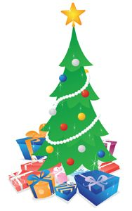 Christmas Tree With Presents Christmas Tree With Presents Christmas Tree Drawing Christmas Tree Clipart