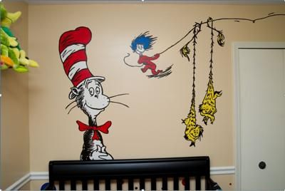 Delightful Fun And Vibrant Dr. Seuss Nursery Wall Art: First Off, I Am A Teacher So It  Was Natural To Lean Towards A Baby Nursery Theme That Included Childrenu0027s  ...