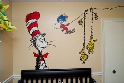 Fun And Vibrant Dr Seuss Nursery Wall Art First Off I Am