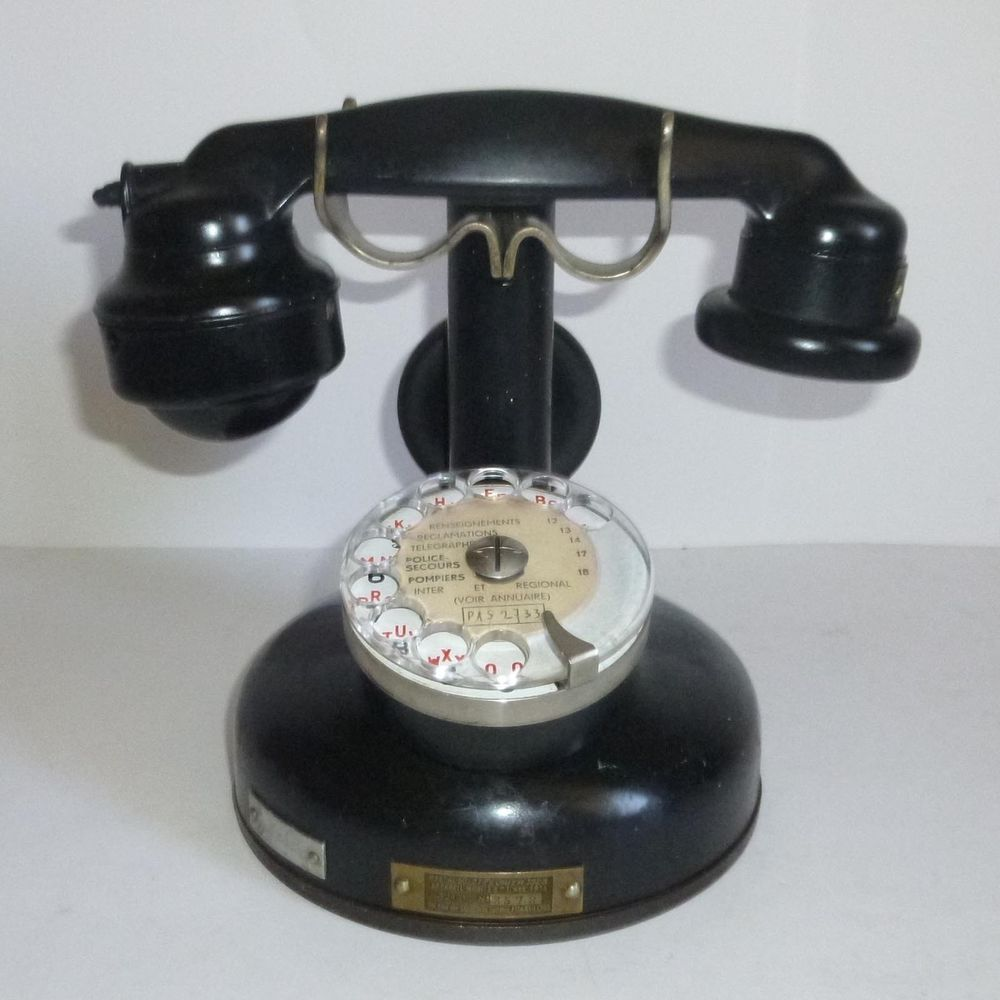 Altes Telefon Mobile Bci Mod 1924 Vintage Phone Telephone Ancien