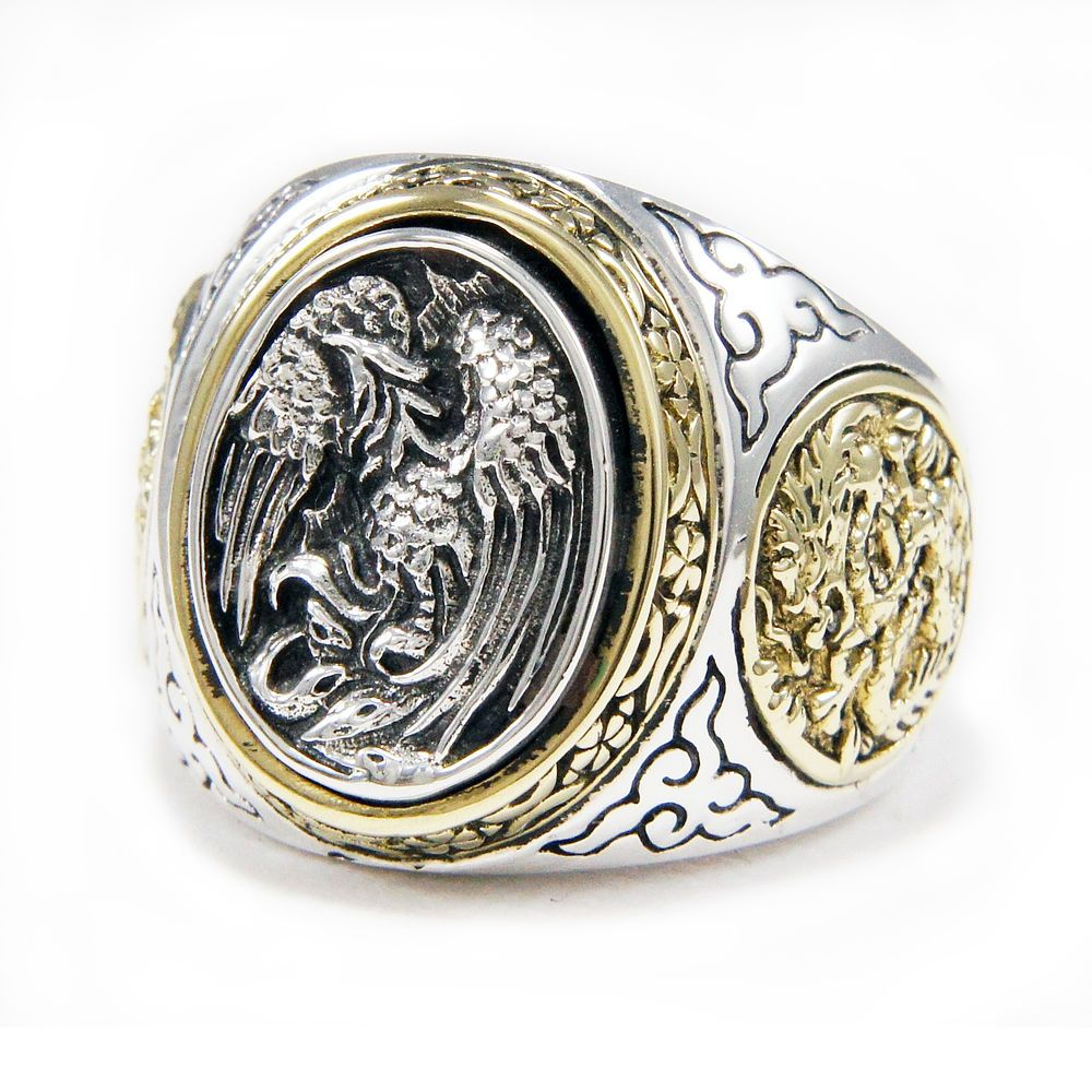ring carol just rings mortensen dragon phoenix by pin carved