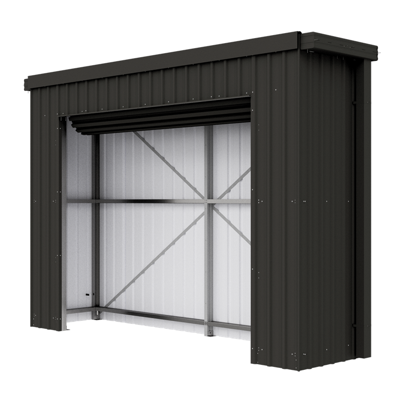 Absco Sheds 3 0 X 0 77 X 2 4m Monument Fortress Shed Monument Carport With Storage Shed Roller Doors