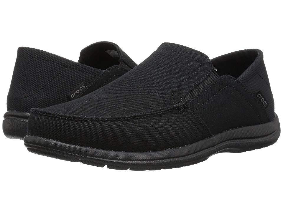 professionell försäljning ganska trevligt Rimligt prissatt Crocs Santa Cruz Convertible Slip-On Men's Slip on Shoes Black ...