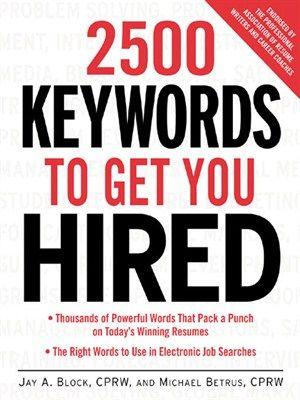 2500 keywords to get you hired by jay a block the most