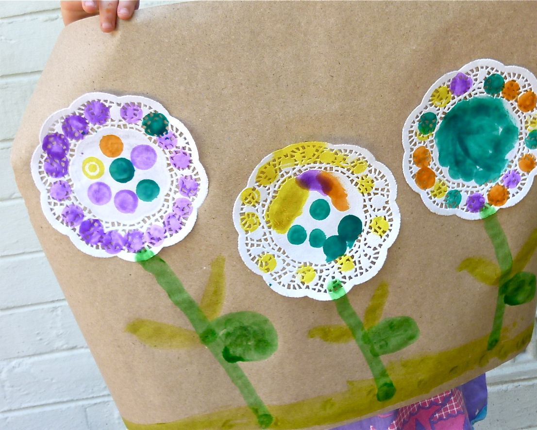 Preschool Doily Flowers