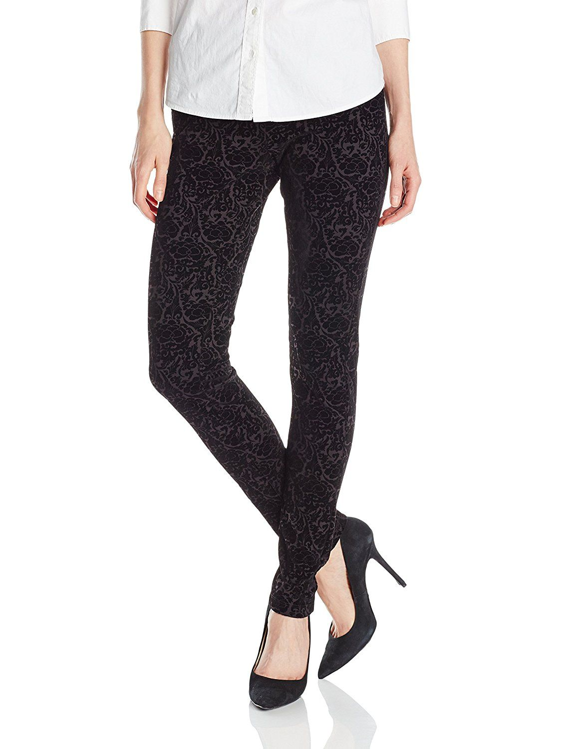 d0481aede43a5 NYDJ Women's Joanie Skinny Flocked Ponte Pull On Leggings *** Be sure to  check out this awesome product.
