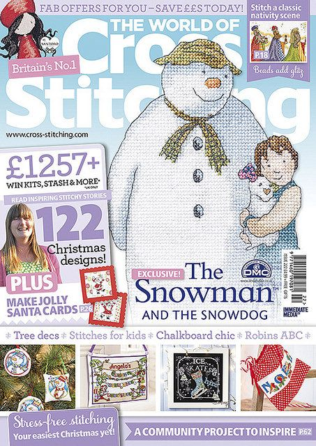 Our new issue is here! Issue 222, on sale 7 October - look out for your all-new issue of The World of Cross Stitching! On sale in a supermarket or newsagent near you, or in the US, check out bookstores like Barnes & Noble and craft stores like JoAnn's. If you fancy a digital edition (so easy and instant!) look in the AppStore (for iPad/ iPhone), in the GooglePlay store for Android, via Amazon for KindleFire or at Zinio for PC!