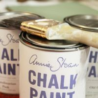 Annie Sloane Chalk Paint easy to use and many great colors too!  Give it a try and put a smile on your old furniture.