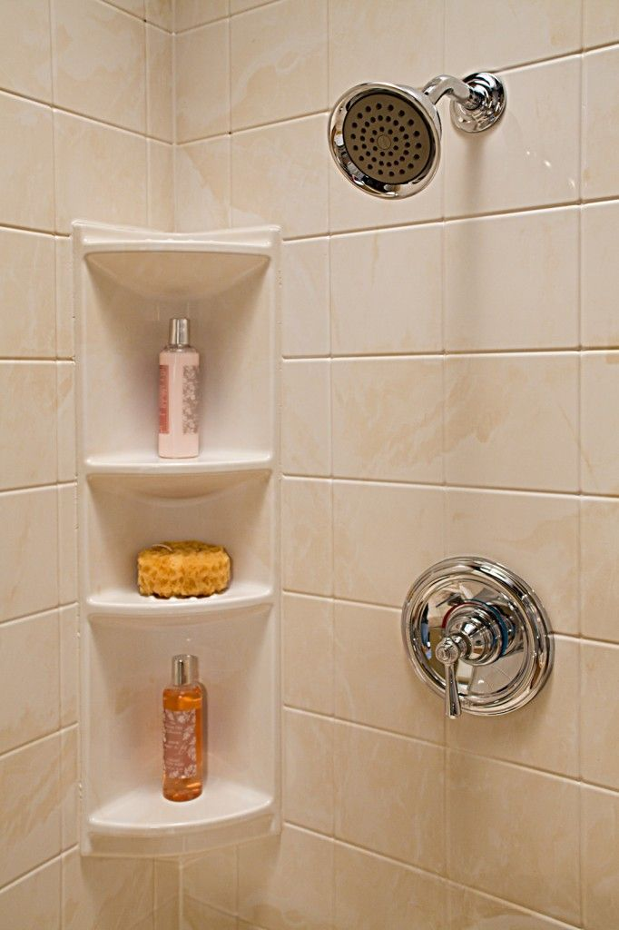 I like the concept, but this one looks cheap. Corner Shower Shelves ...