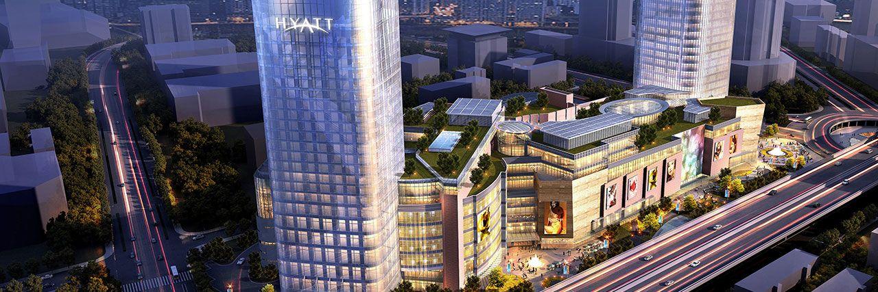 Hyatt regency shanghai wujiaochang opens with 306 room for International decor outlet regency square mall