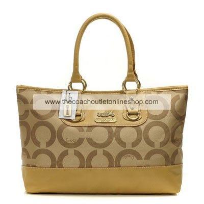 Coach Authentic Op Art Diaper Bag Gold  50dda5db3de27