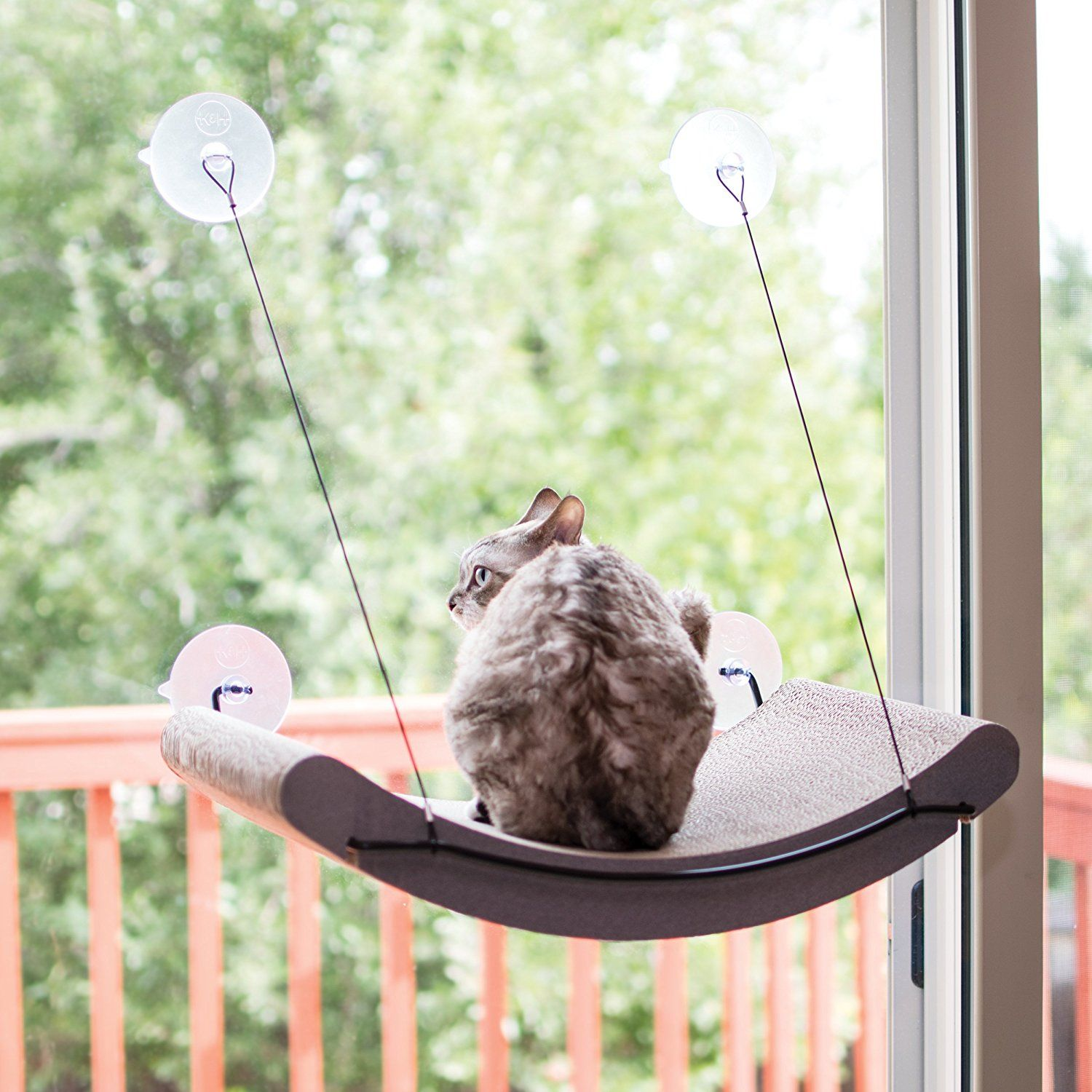 Window bed for cats  kandh manufacturing ez mount scratcher kitty sill cradle tan