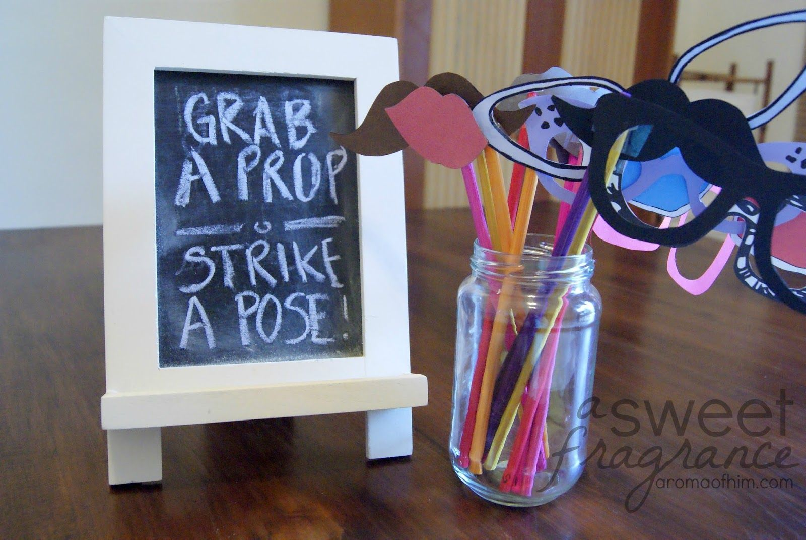 A Sweet Fragrance Make Your Own Photo Booth Props Printable Included