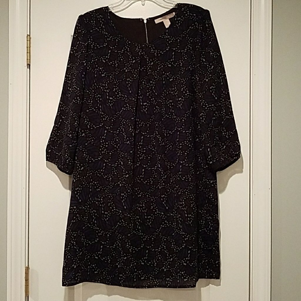 3/4 Sleeve Sack Dress