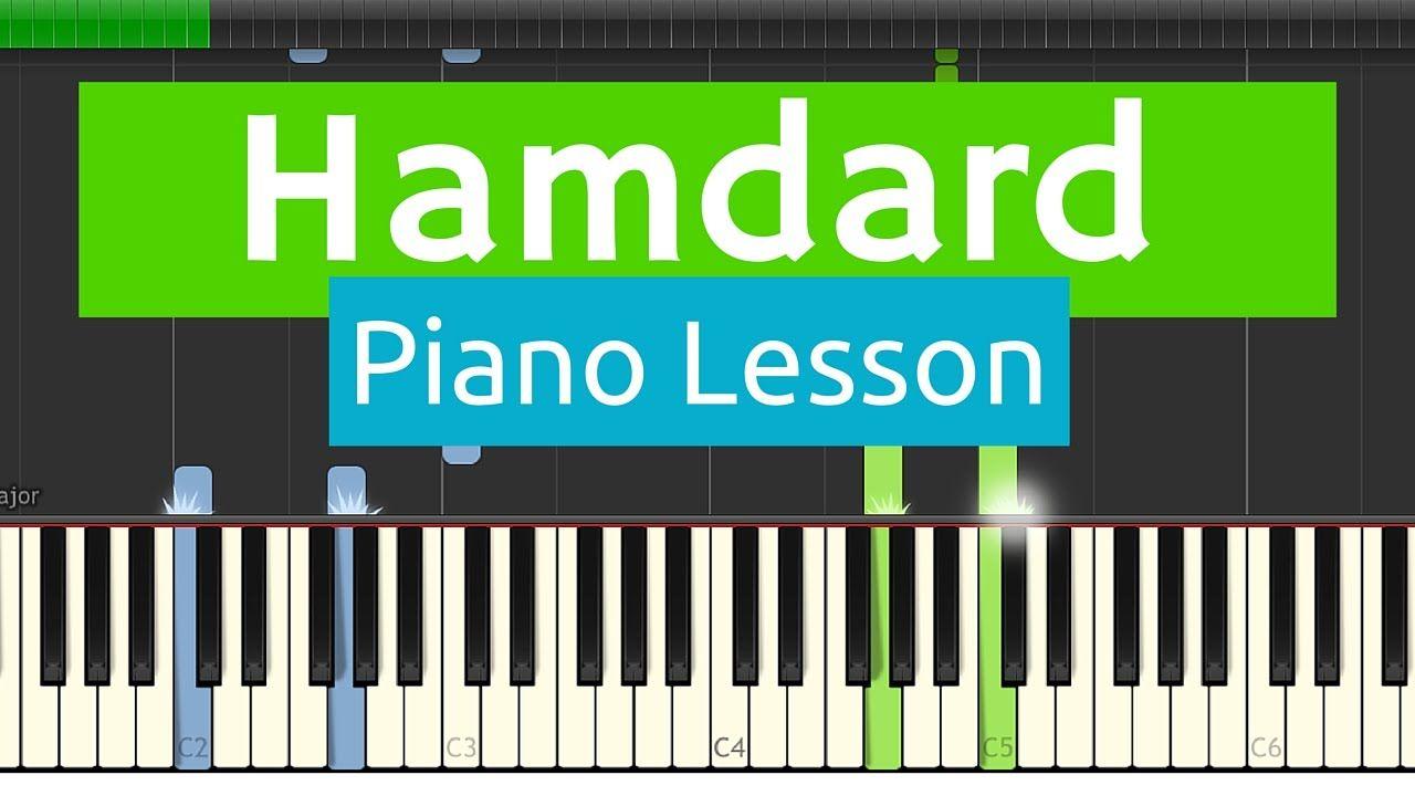 Hamdard - Advance Piano Tutorial / KARAOKE with FREE MIDI