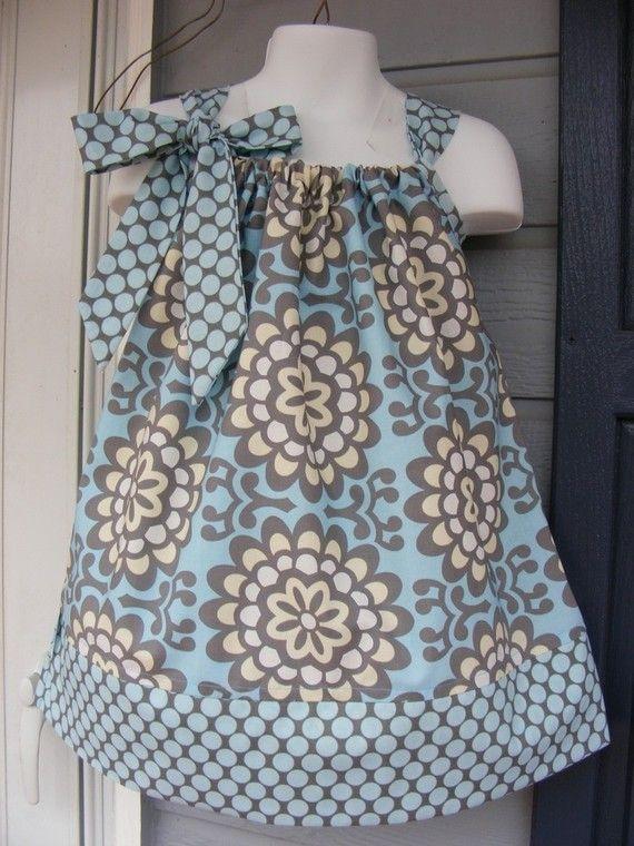 Custom Made Pillowcase Dress-0-8 years old-Amy Butler Fabric ...