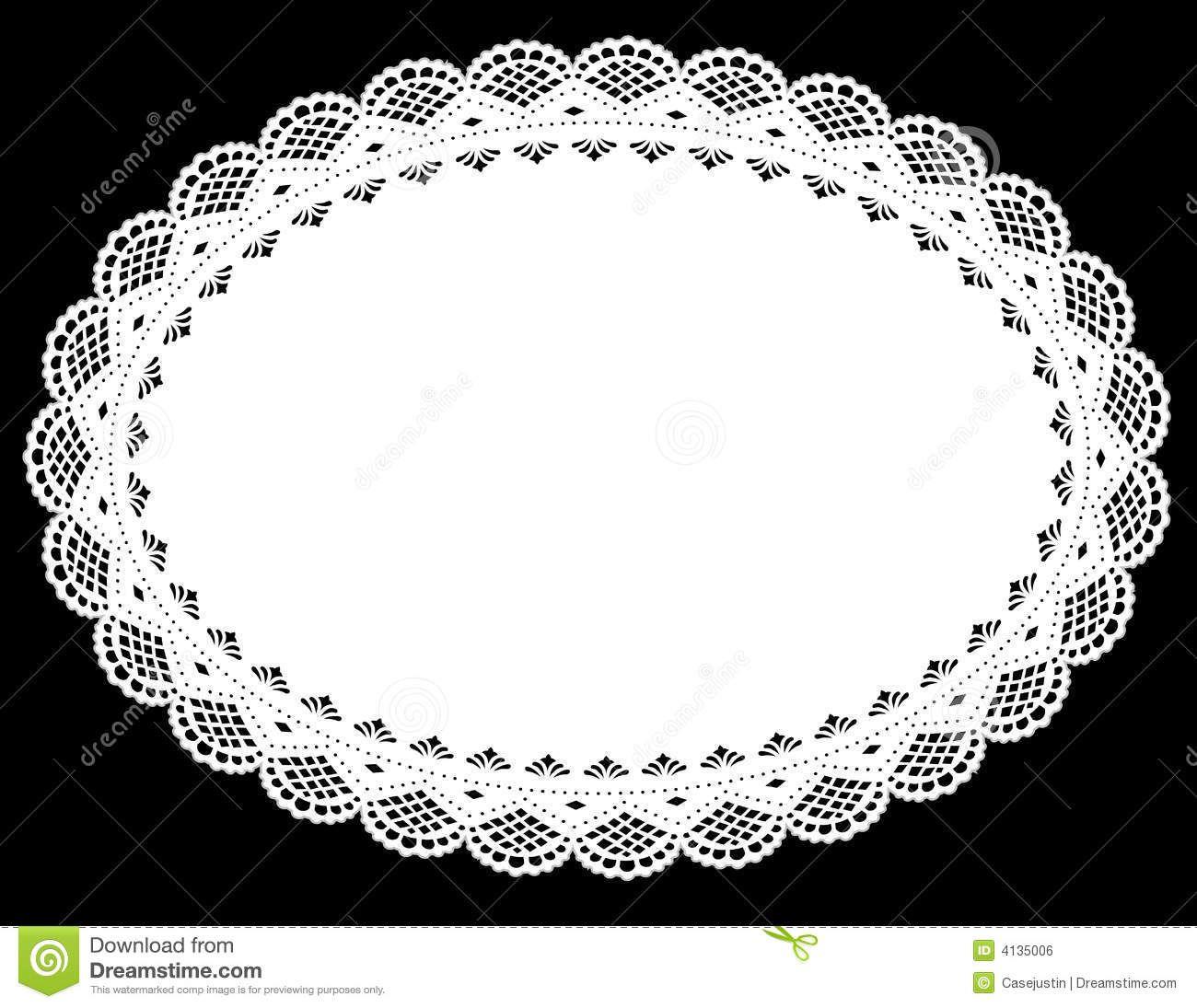 Lace oval. Doily place mat royalty