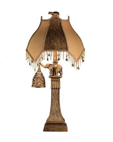 Ashley L324934 Elephant Theme Table Lamp With Nightlight Bronze Finish 2 Pack By Ashley 125 For Both Elephant Table Lamp Lamp Table Lamp Sets