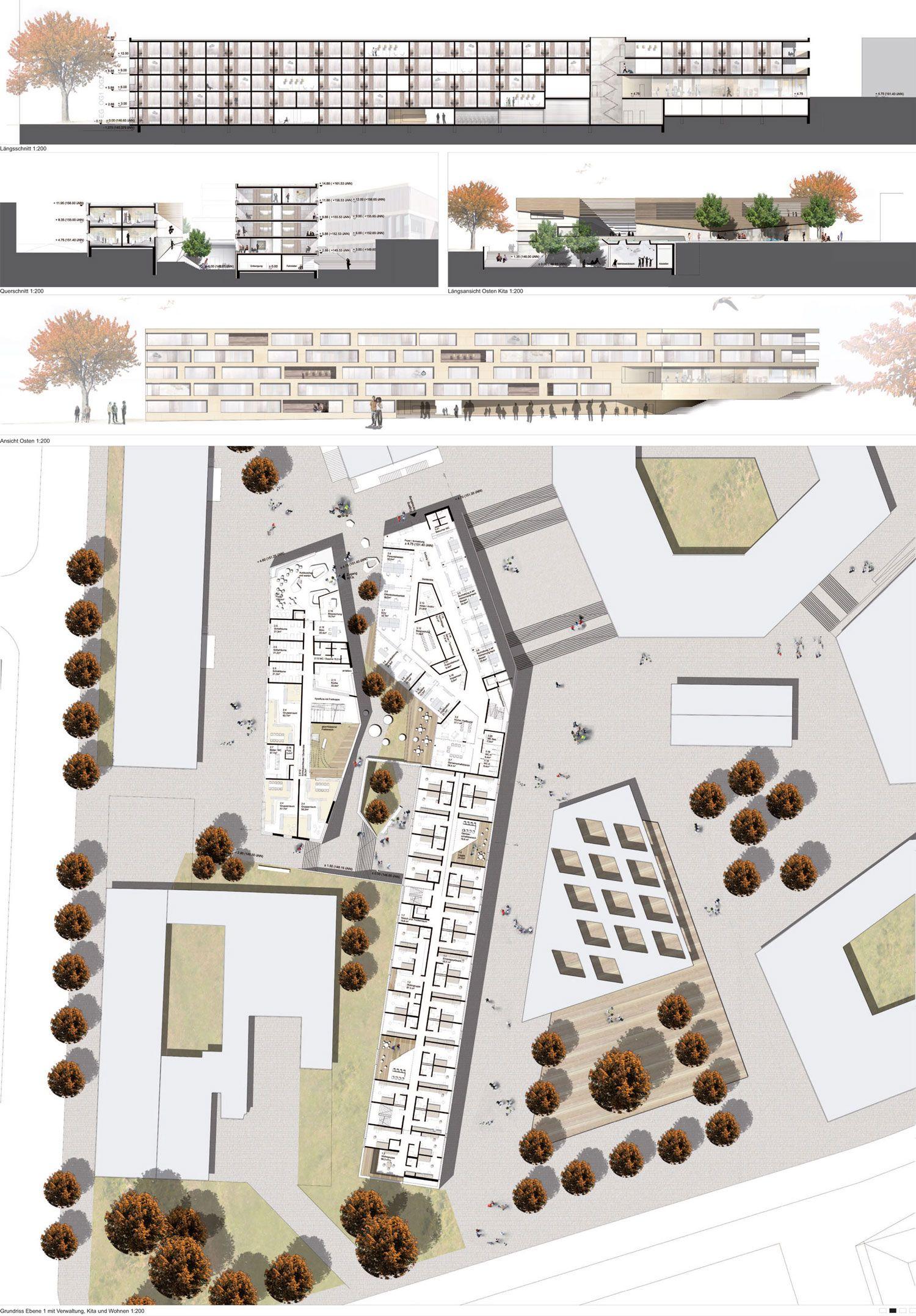 Innenarchitektur Wettbewerb wettbewerb studentenwohnheim kassel plan02 housing