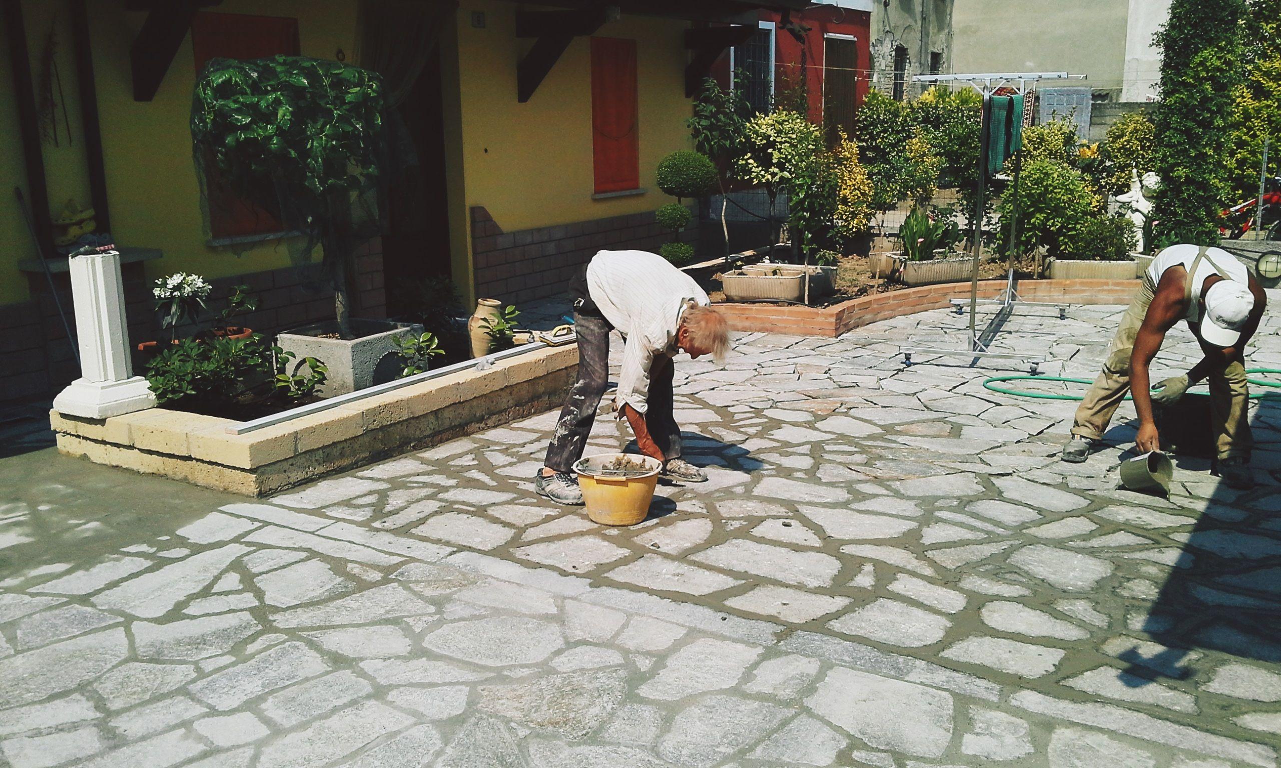 Pavimento esterno di villetta privata outdoor floor of for Esterno in latino
