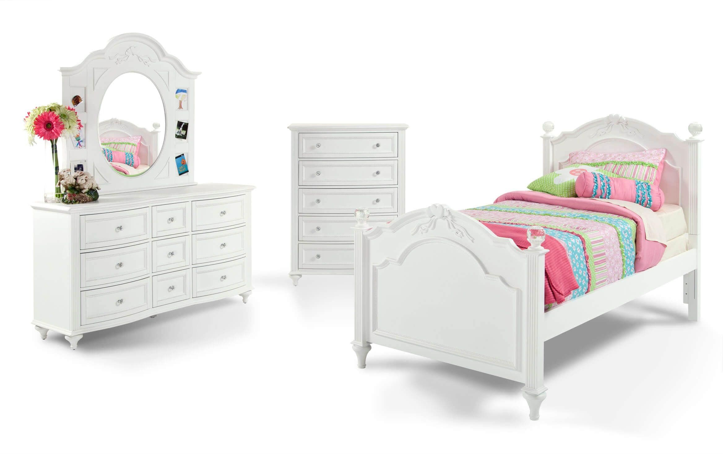Madelyn Youth Twin White Bedroom Set in 2020