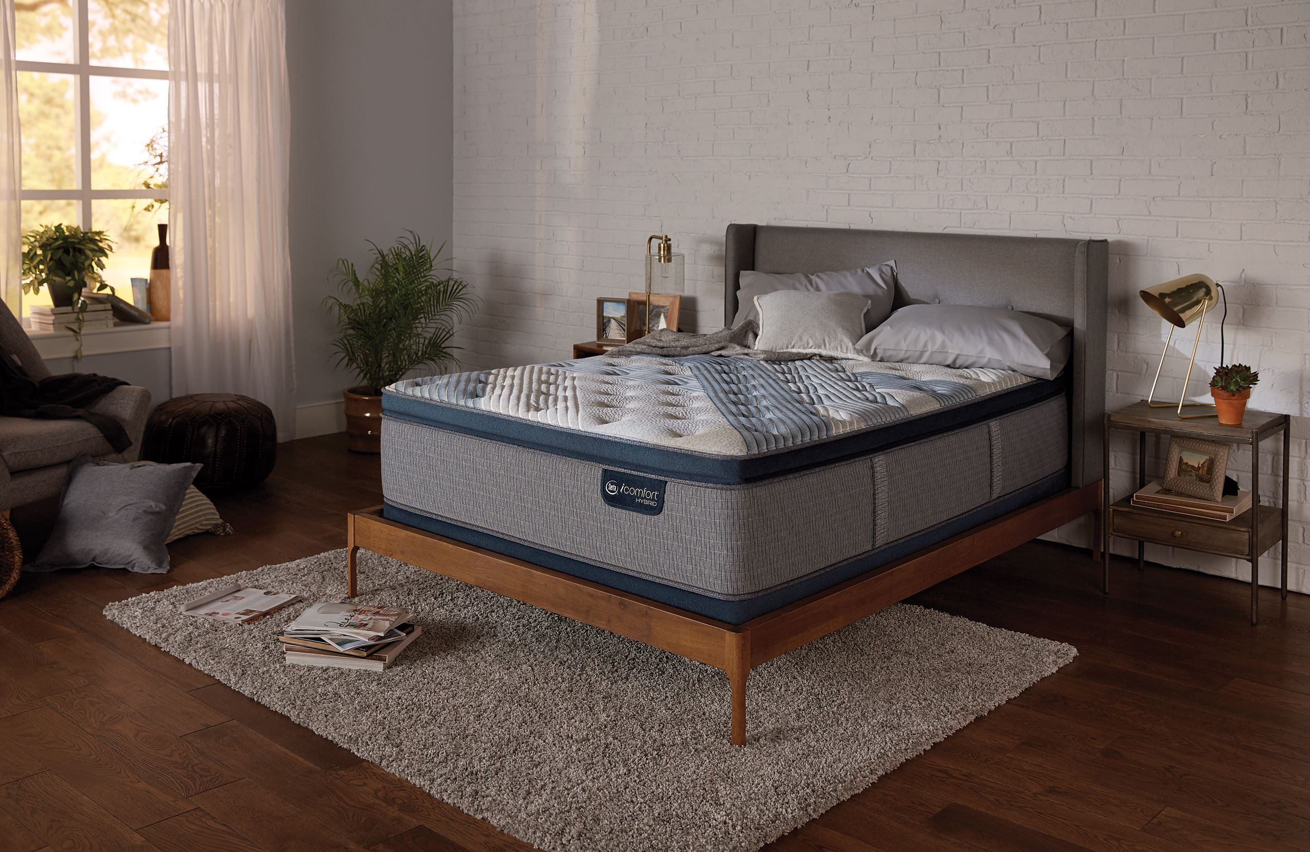 Serta Icomfort Blue Fusion 1000 Luxury Firm Pillow Top Set Plush Pillows Twin Xl Mattress Serta Mattress