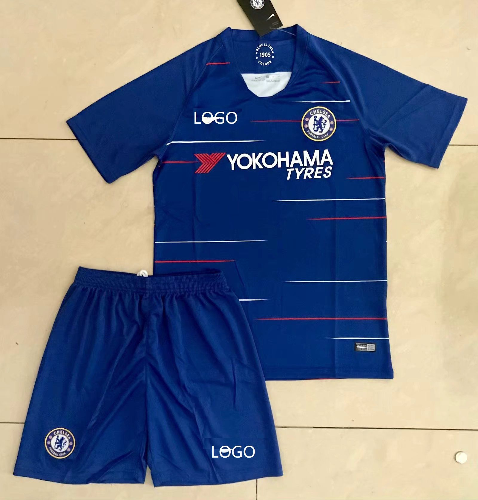 the latest 6a9ed e262c 18/19 Cheap Adult Chelsea Home Soccer Jersey Blue Uniform ...