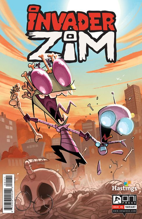 Tyson Hesse Variant Available Through Hastings Entertainment Con Imagenes Invasor Zim Mejores Dibujos Animados Dibujos