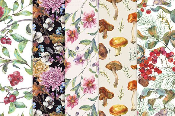 Fall collection, seamless patterns by Depiano on @creativemarket