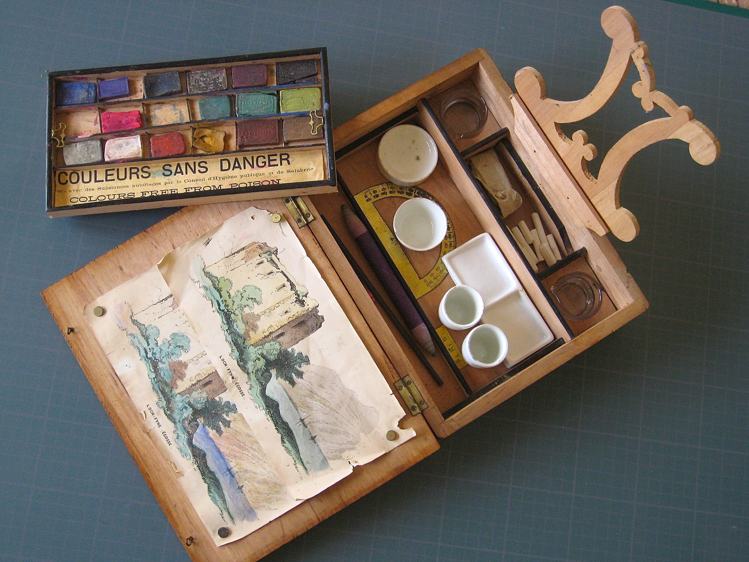 Linho E Alfazema My Antique Watercolour Wooden Box France Xix