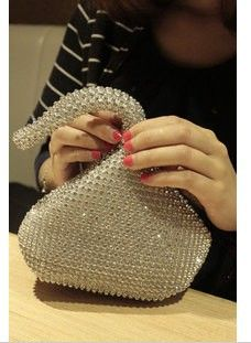 Diamond luxury noble fashion women s bling bling evening bags wedding party  mini laptop bag free shipping 8ededd3bf33c