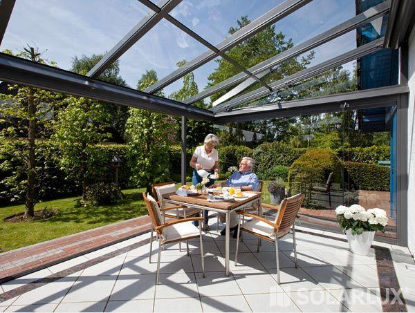 Terrassen berdachung erweitert zu glashaus garten - Glashaus wintergarten ...