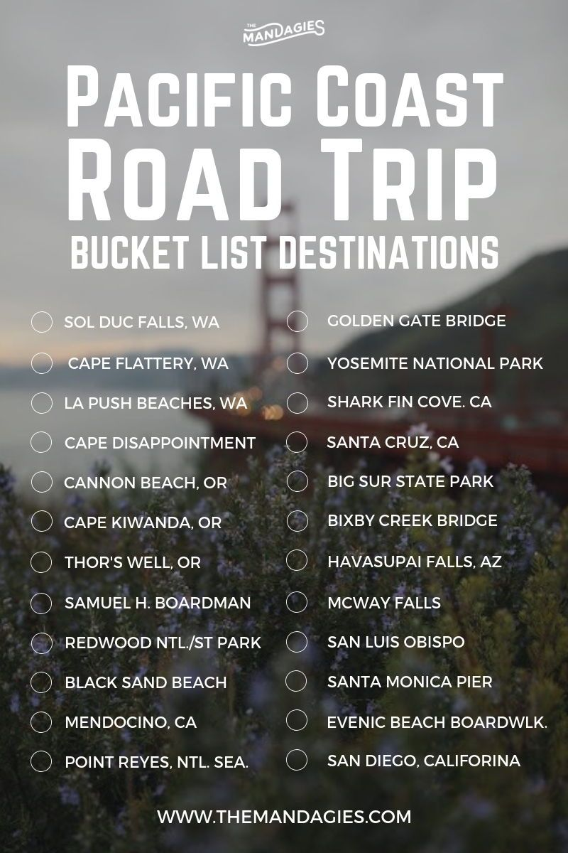 25 Amazing Stops On A 1-Week Pacific Coast Highway Road Trip Itinerary - The Mandagies #westcoastroadtrip