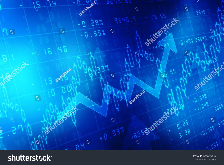 Futuristic Raise Arrow Chart Digital Transformation Abstract Technology Background Big Data An Digital Transformation Stock Illustration Technology Background