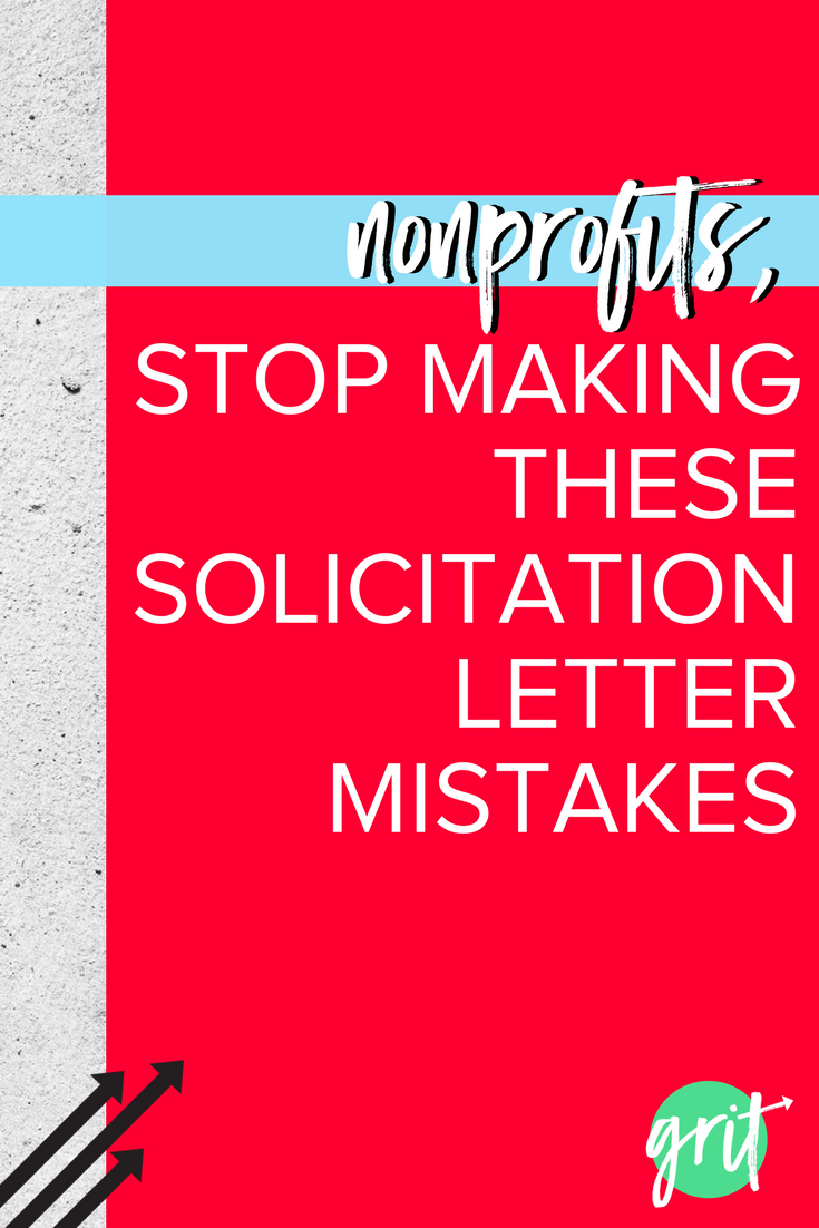 4 common mistakes nonprofits make on solicitation letters