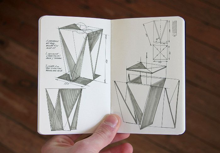 Stool Concept Tabouret Origami Guillaume Allemon Bed Chaise Origami Tabouret Architecture Origami