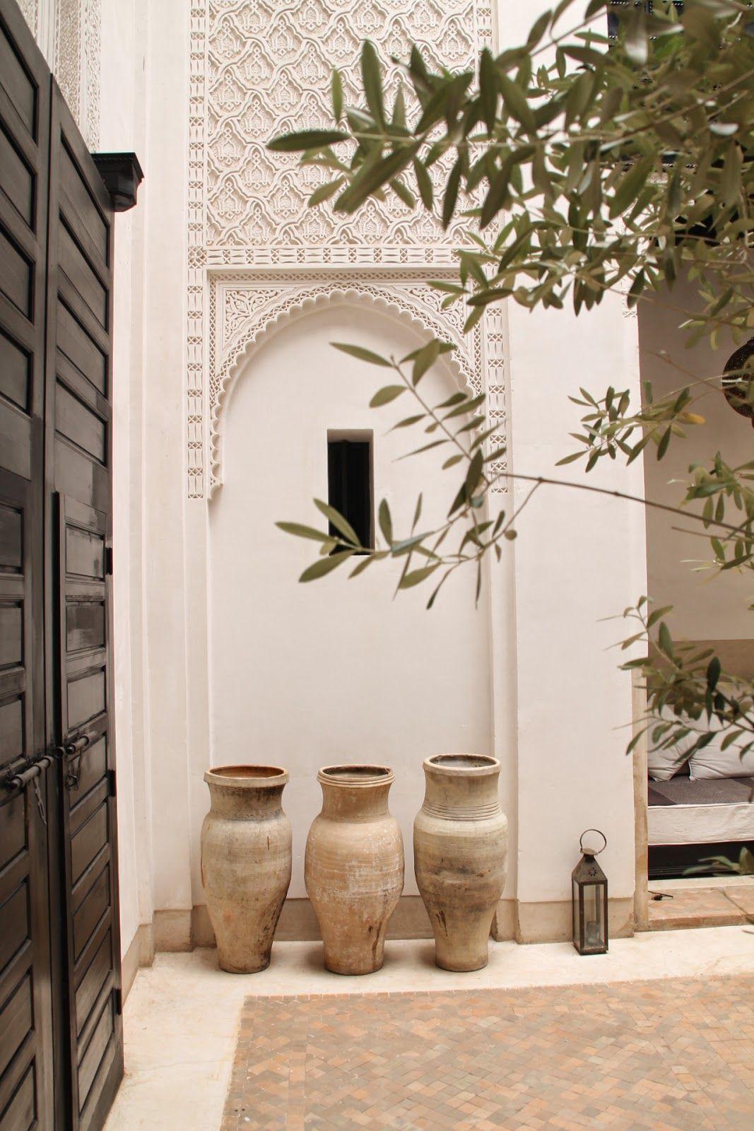 Dar am na calma y paz tras la puerta jardins i amagatalls pinterest decoraci n tnica - Casas marroquies ...
