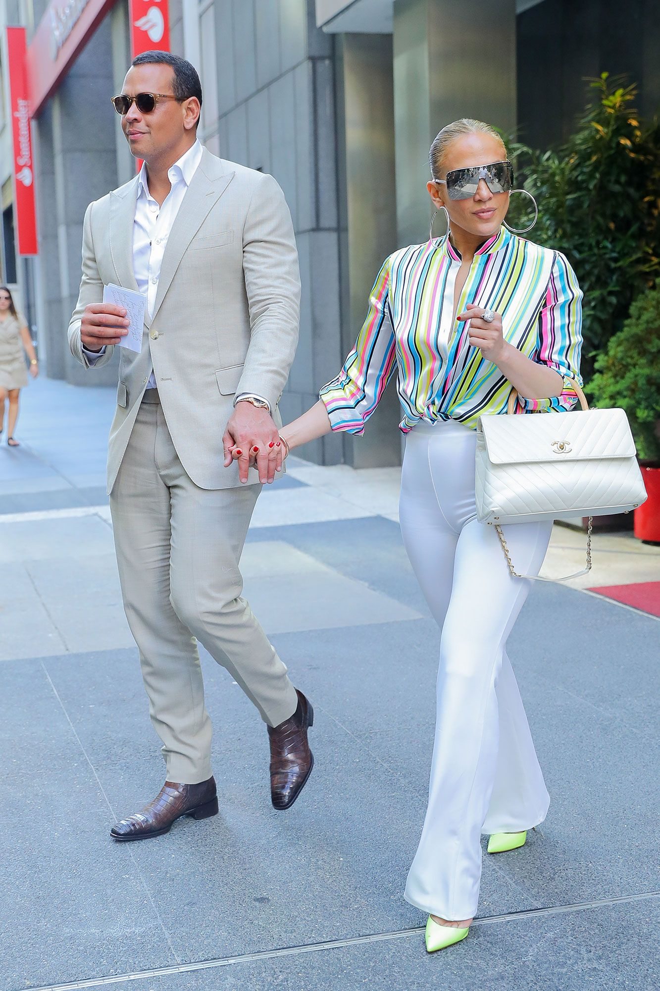 02f000ac5d5 A stylish Jennifer Lopez and Alex Rodriguez hold hands after a visit to  Italian eatery Casa Lever in New York City on Friday.