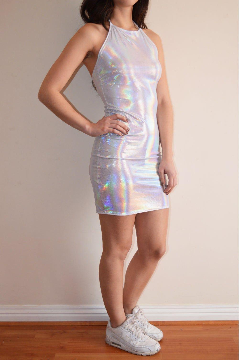 holografisches kleid   kleidung, kleider, holografisch