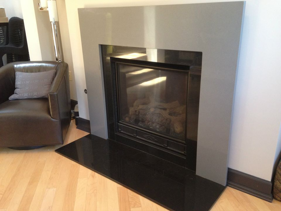 Granite Hearth, Granite Fireplace, Fireplace Remodel, Black Granite, Fireplace  Surrounds, Expo, Showroom, Fireplaces, Sales - Beautiful Fireplace Surround. Simple, Yet Such A Statement Piece
