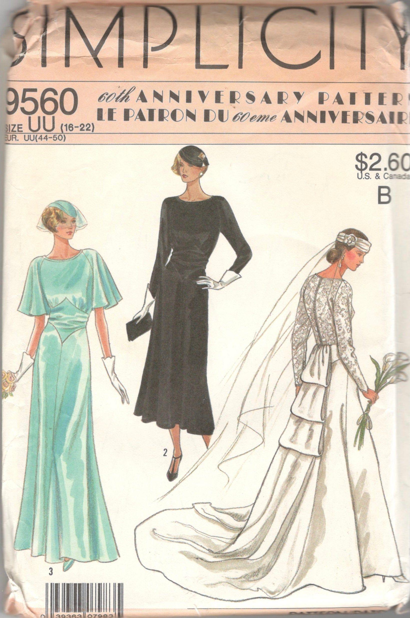 Simplicity 9560 1920s Brides Wedding Gown Pattern Shaped Etsy Vintage Wedding Dress Pattern Wedding Dress Patterns 1920s Wedding Dress [ 2470 x 1638 Pixel ]