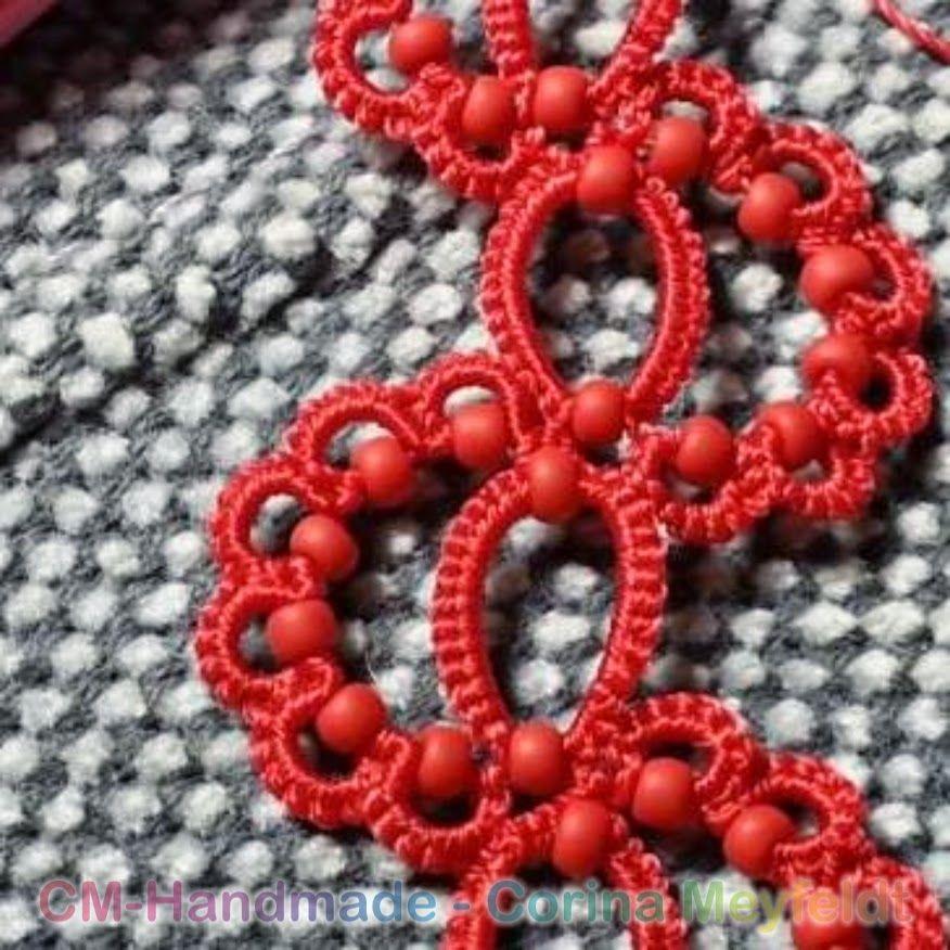 CM-Handmade: 1 shuttle bracelet, beads all around.