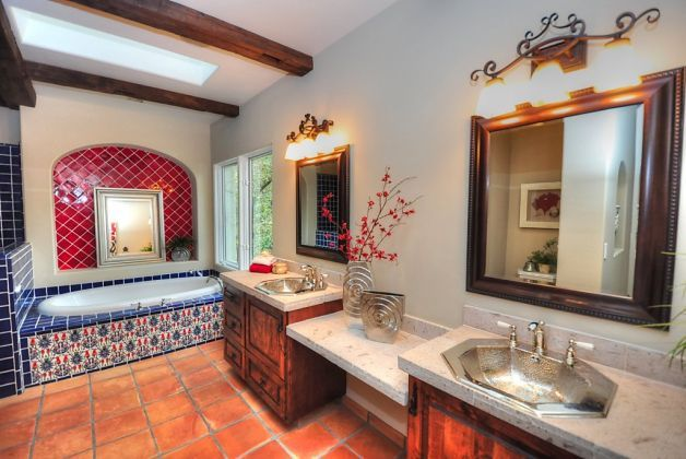 17 Best images about Spanish decor on Pinterest Spanish style Old world and Spanish  tile. Spanish Tile Bathroom Ideas