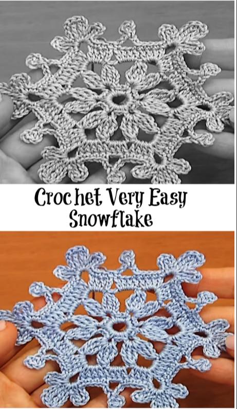 Snowflake Christmas And New Year Pinterest Crochet Crochet