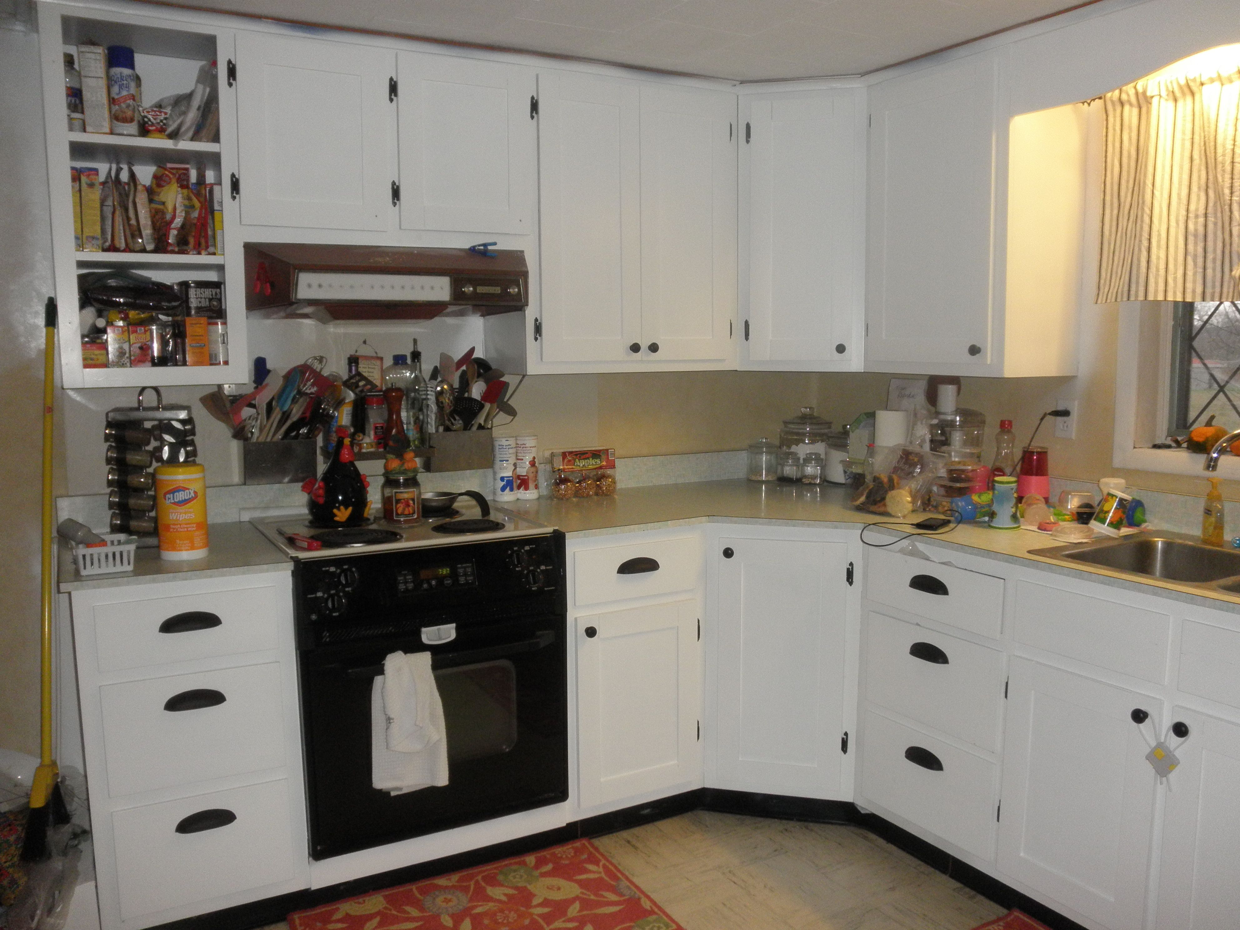 Superb img of cabinet refinishing almost complete!! They used to be natural wood  with #9E652D color and 3968x2976 pixels