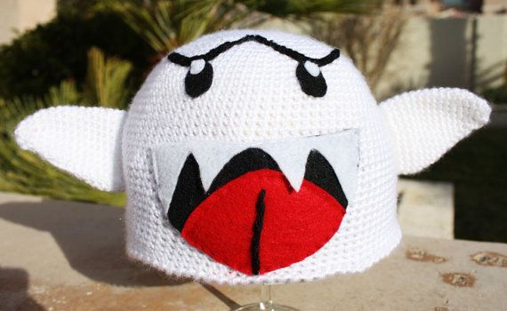 Boo ish Super Mario Bros Hat with Arms & Tail : by littlepopos ...