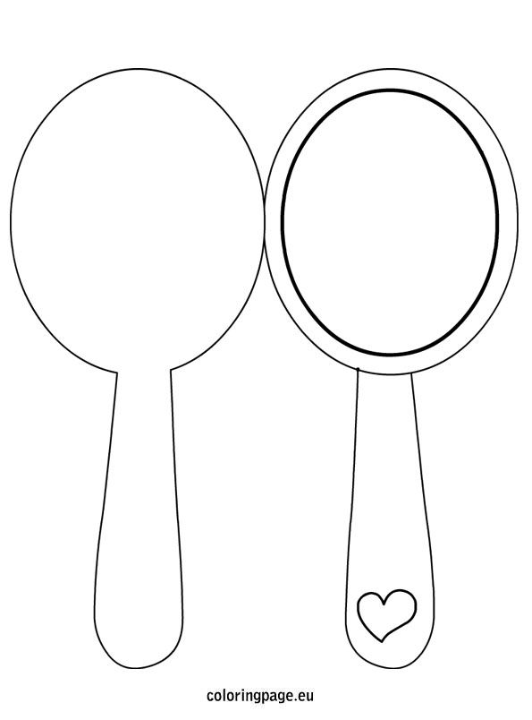 hand held mirror coloring pages - photo#14