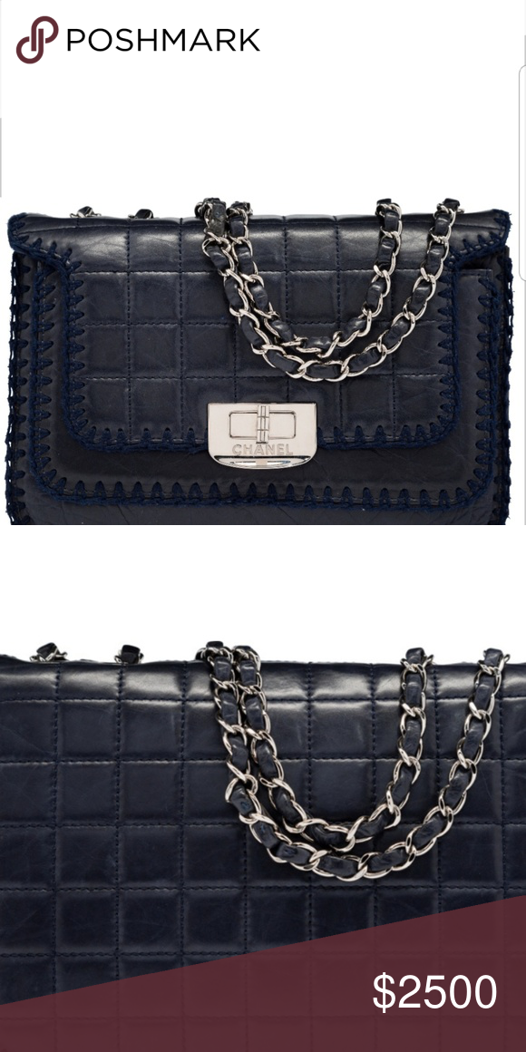 d08e724a65f71e 💖COMING SOON💖! CHANEL NAVY BLUE FLAP BAG. Chanel Navy Blue Square ...